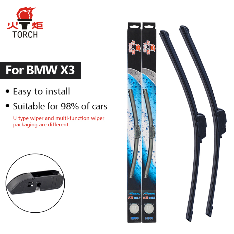 TORCH Wiper Blades For BMW X3 E83 / F25 Exact Fit 2003