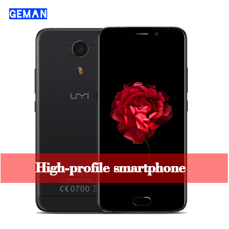 "Original Official Umi Plus E Smartphone Android 6.0 5.5"" 6GB RAM 64GB ROM 13MP Smart Phone Touch Fingerprint Slim Mobile phone"