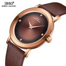 IBSO Women Watches 2019 New Ladies Fashion Wrist Watch Reloj Mujer Women Men Leather Quartz Watch Women's Day Gift #2319