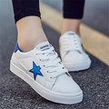 2017 Brand Outdoor couples Women Flat Casual Walking shoes PU size 35-44 superstar shoes Fashion zapatos mujer chaussure homme
