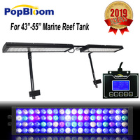 2pcs Luz Acuario Marino Programmable 4 Channels Dimmable Fishing Lamp 120cm 48 4ft Fish Coral Reef Marine Tank Led Aqua Light
