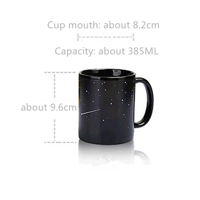 USEBER Cool Ceramic Solar System Change Color Mugs Heat Sensitive Color Changing Mugs Sublimation Coffee Tea Change Color Mug