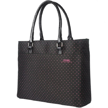 DTBG Laptop Totes For Women Vintage Dot Printed Business Waterproof Handbag Ladies Office Sling Bag Shoulder Bags Beach Borsa grande bolsas femininas de couro