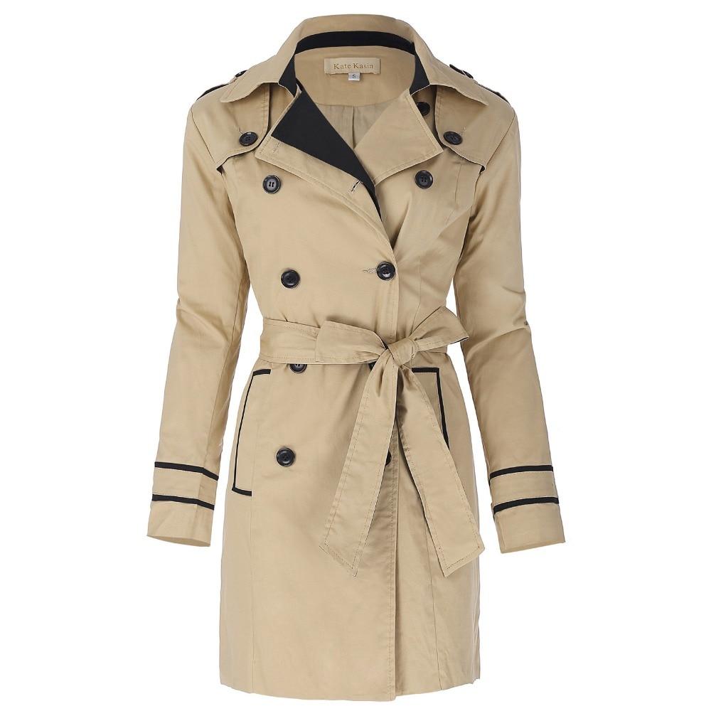 Trench   Coat Women 2017 Fashion Slim Outerwear Long Windbreaker Women With Belt Pockets Elegant Female Overcoat Long   Trench   Coats