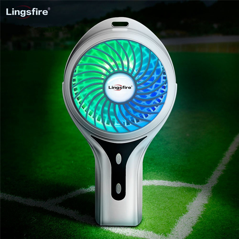 Rechargeable Portable Fan 3 Speed Adjustable USB Handheld Fan 7 Colors Light Personal Desktop Mini Fan Home Office TravelRechargeable Portable Fan 3 Speed Adjustable USB Handheld Fan 7 Colors Light Personal Desktop Mini Fan Home Office Travel