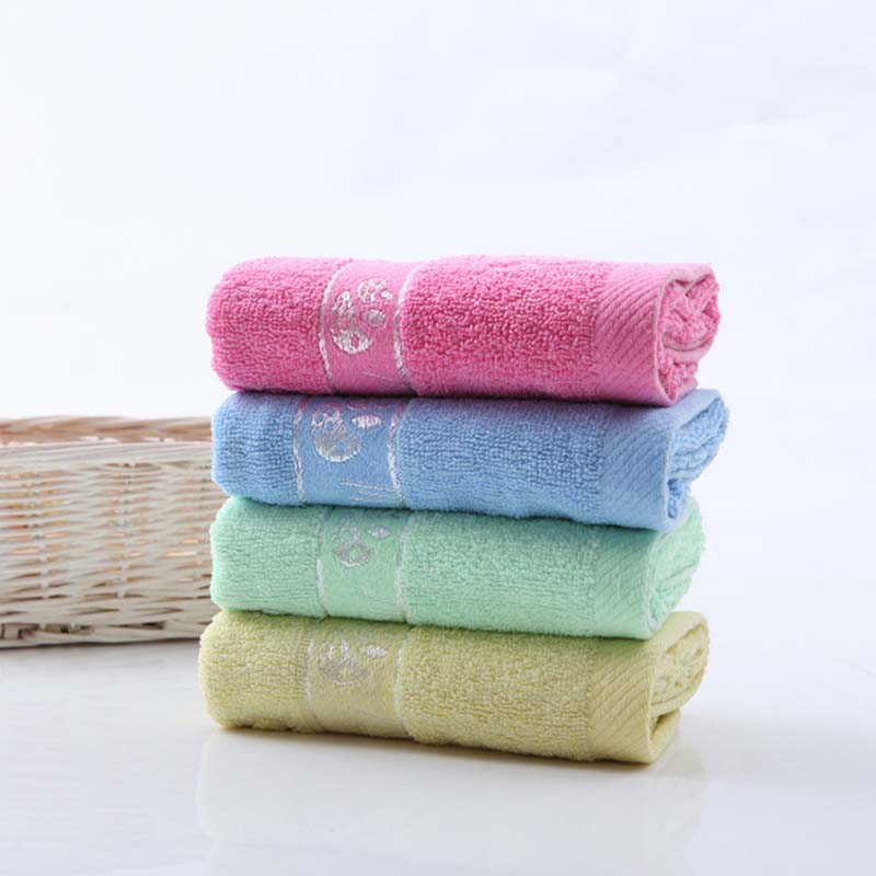 Soft Cotton Baby Towels Attractive Children Face Towels Kids Mushroom Towels G