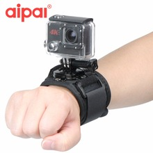 Aipal Action Camera Accessories 360 Degree Rotating Wrist Hand Strap Band Tripod Mount Holder For GoPro Hero 5 4 3 yi SJ4000 .