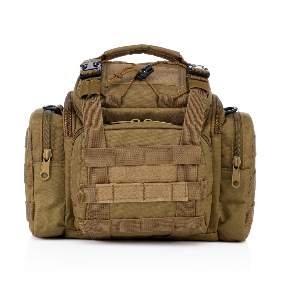 Deporte al aire libre portátil bolso táctico de molle 600d Oxford multifunción SLR Cámara llevar bolsa cintura mano Militar fans