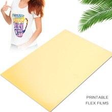 Теплообменная бумага золото A4 светильник ткани Diy прочный рисунок струйные принтеры текстиль креативная футболка теплообменная пленка