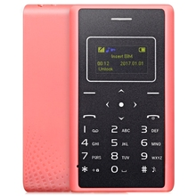 Новинка 2017 года оригинальный ультра тонкий карты дети мобильный телефон 4.8 мм AIEK X7 low radiation мини карман для учеников телефона