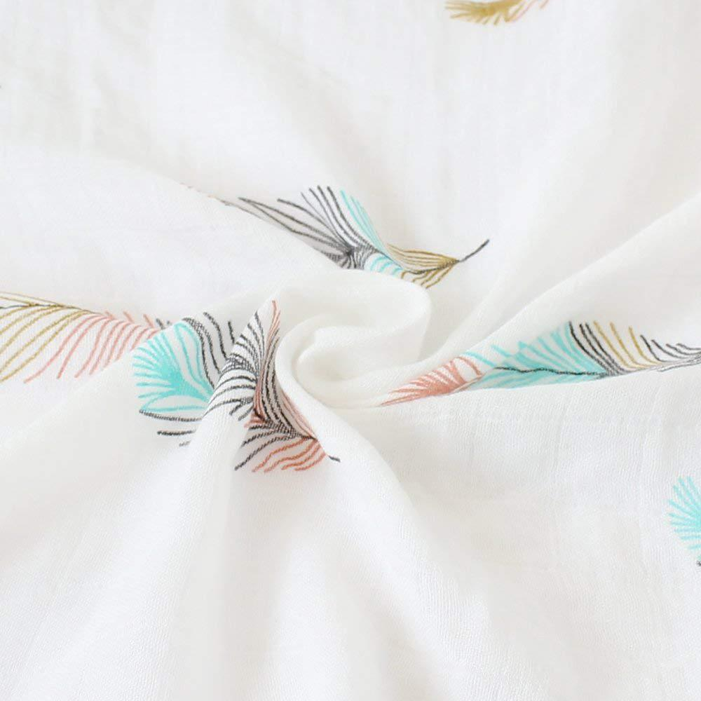 Bamboo Cotton Muslin Baby Swaddles 120x120cm Feather Newborns Baby Blankets Multifunctional Infant Gauze Bath Towel Hold Wraps in Blanket Swaddling from Mother Kids