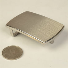 high quality stainless steel leather belt buckle mirror or brushed finished 38mm simple rectangle(China)