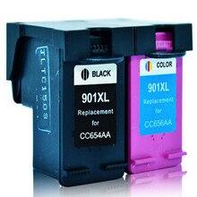 hisaint Compatible Printer Ink Cartridge For HP 901 901XL CC654AC CC655AC For J4500 4540 4550 J4580 J4680 Ink Jet Printer
