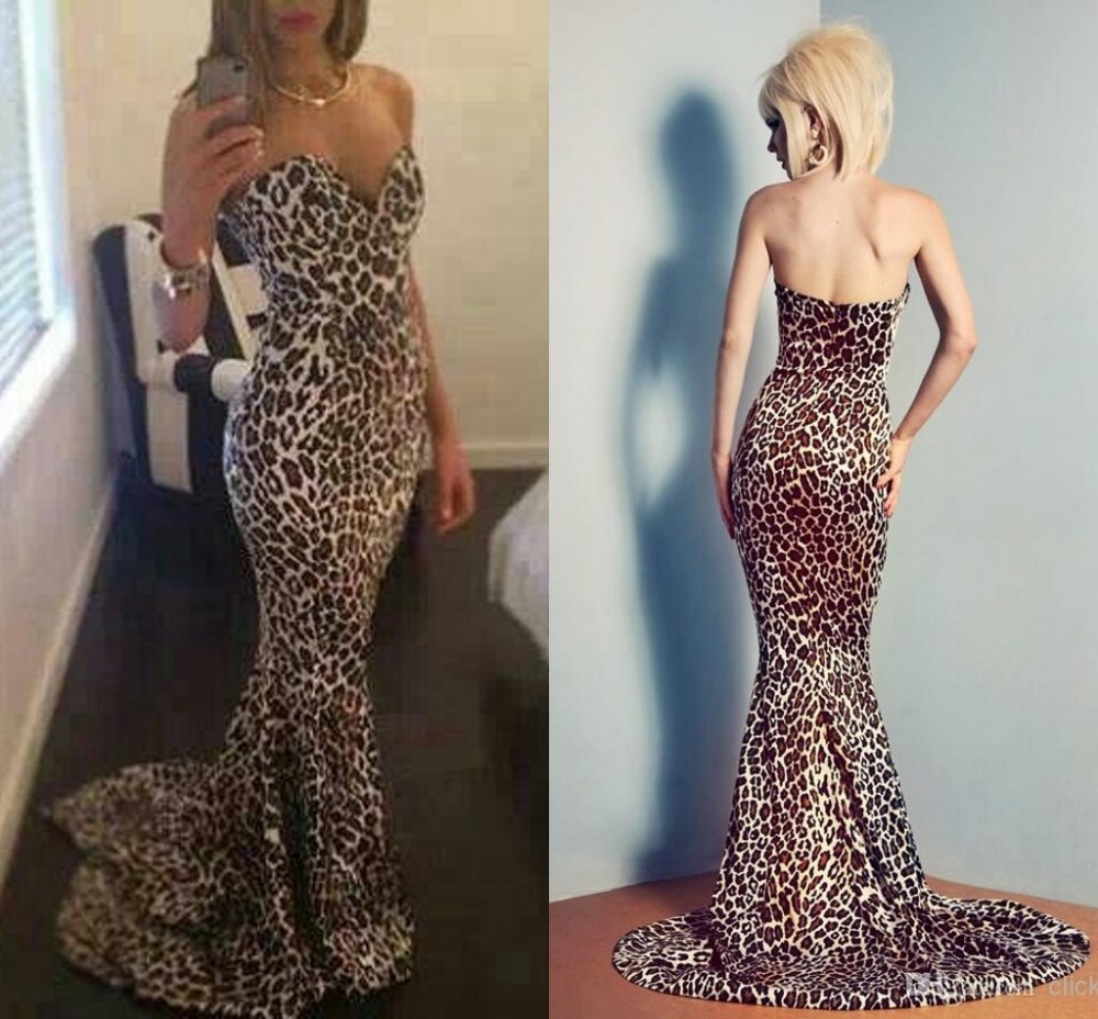 Great Leopard Print Evening Gown Contemporary Images For Wedding