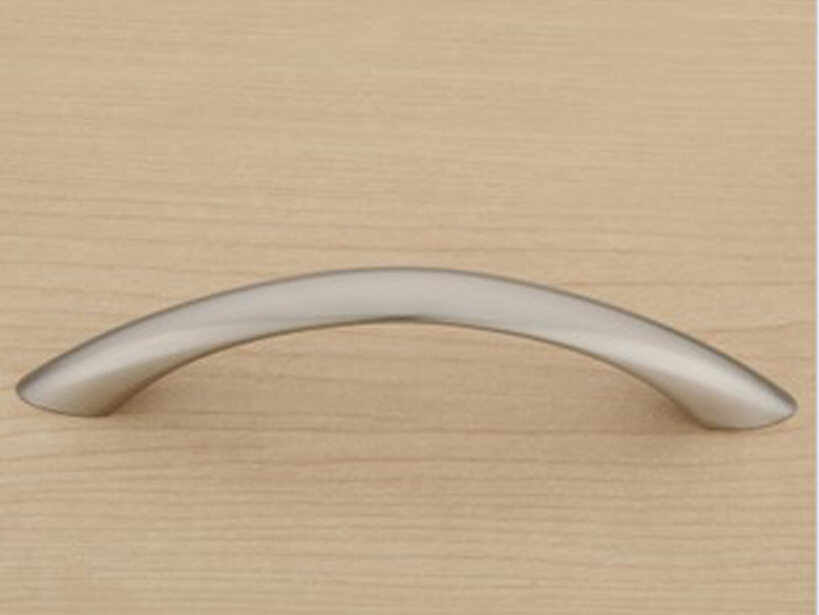 Satin Nickel Modern Simple Kitchen Cabinet Drawer Pull Handle Concealed  Closet Door Knob( C: