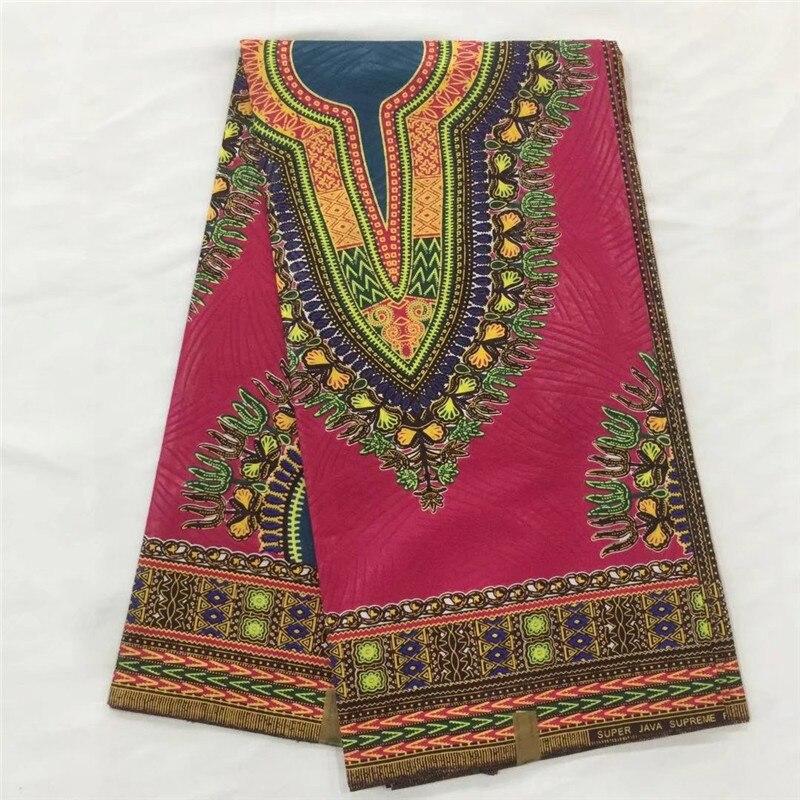 Acheter DF! Africaine Dashiki Java Cire Ankara Coton Bloc de Cire Véritable Réel Super Imprimer Cire Tissu pour Vêtement en 6 mètres! L13005 de wax fabric fiable fournisseurs