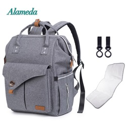 New Stylish Diaper Backpack Bag Mummy Maternity Bag Large Capacity Nappy Baby Bag with Stroller Straps for Baby Care
