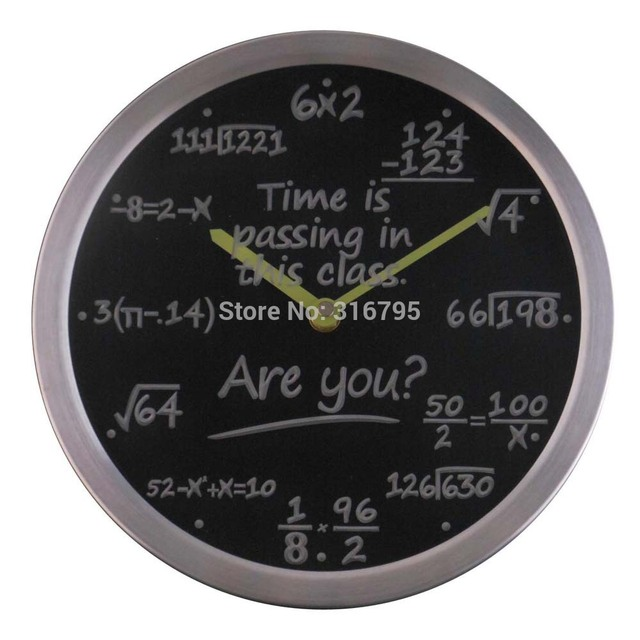nc0463 Math Class Time is Passing are you? Gift Decor Neon LED Wall Clock