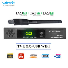 vmade X3 Combo dvb-t2 wifi receiver dvb-C dvb-S2 satellite receiver powervu autoroll supports CS Protocol cccam AC3 Wifi Iks Tv