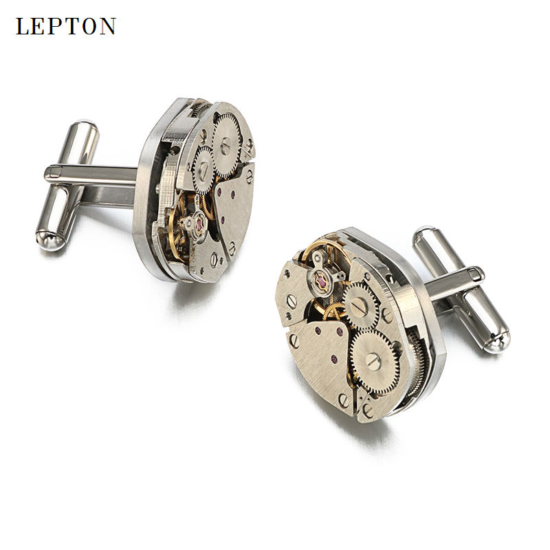 Hot Sale Watch Movement Mansjettknapper av fast Lepton Stainless - Mote smykker - Bilde 2