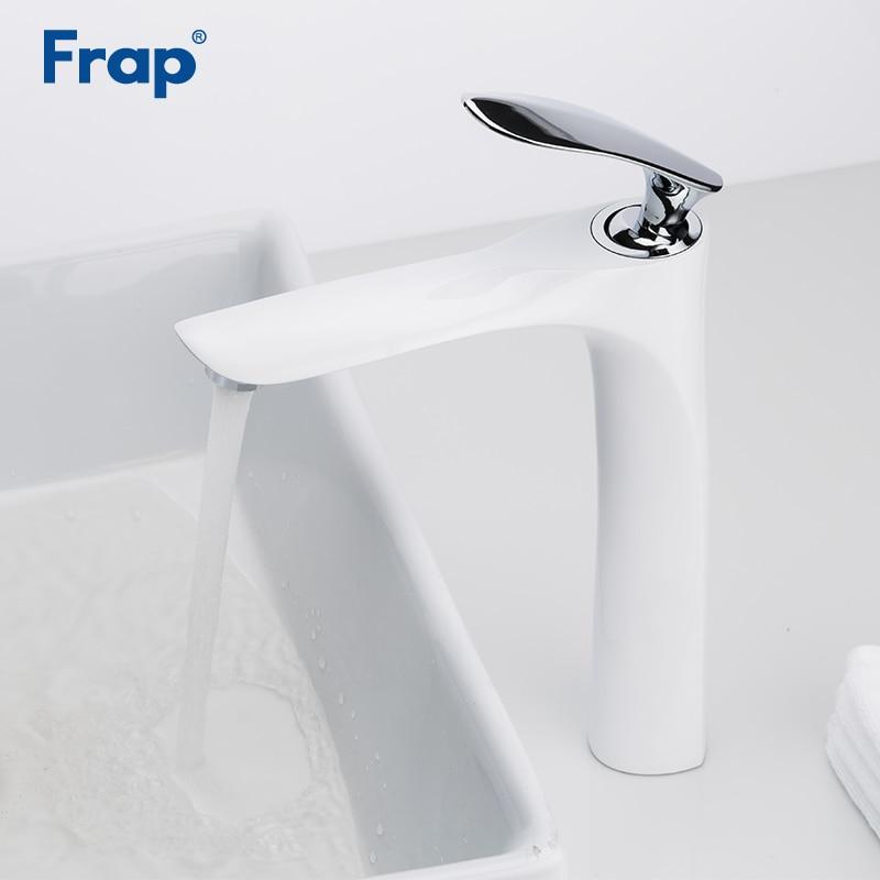 Frap White basin faucet bathroom mixer bathroom faucet sink bathroom sanitary ware mixer shower sink bathroom tap Y10097 bathroom