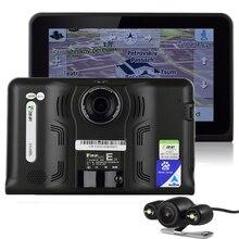7 cal GPS DVR Android Nawigacja GPS DVR Kamera 16 GB Radar detektor Widok Z Tyłu Kamery Allwinner A33 Quad Core 4 CPU GPS DVR