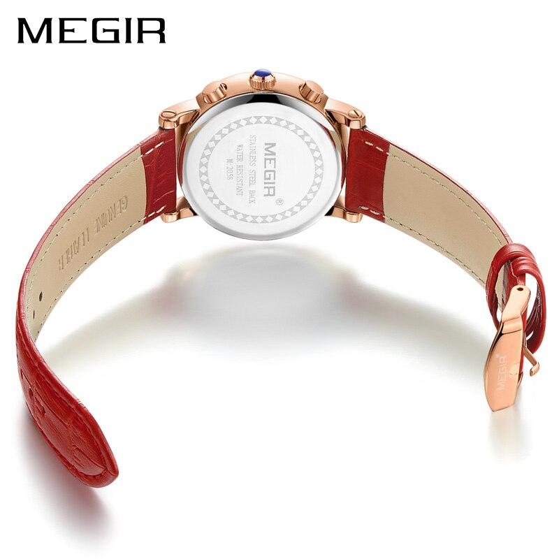 MEGIR Fashion Women Bracelet Watches Top Brand Luxury Ladies Quartz Watch Clock for Lovers Relogio Feminino Sport Wristwatches
