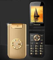 Flip Metal Senior Phone TKEXUN G9000 G3 Big Keyboard/ Sound Old People/ Man Cell Phone Parents Gift Russian French Language