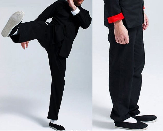 Kung Fu Sports Pants Cotton Bruce Lee Tai Chi Wing Chun Chinese Traditional Martial Arts Outdoor Breathable Loose Trousers
