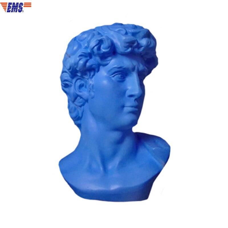 30CM Michelangelo Buonarroti David Gypsum Resin Head Portrait Statue Fashion Desktop Decoration Office Craftwork Ornaments X1200