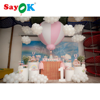 1.5m(5ft)H PVC half hot air balloon inflatable hanging balloons for baby shower party/kids birthday/event/show/exhibition