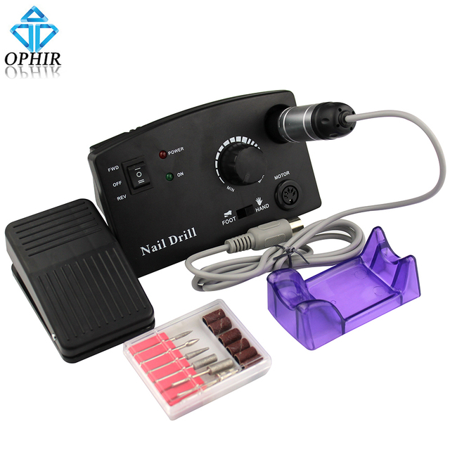 OPHIR Pro 30000RPM Electric Nail Drill Machine Drill File Bits ...