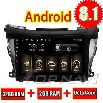 "Topnavi 10,1 ""Octa Core Android 8,1 navegación GPS para Nissan Murano 2015-Autoradio estéreo de Audio Multimedia NO DVD 2 Din"
