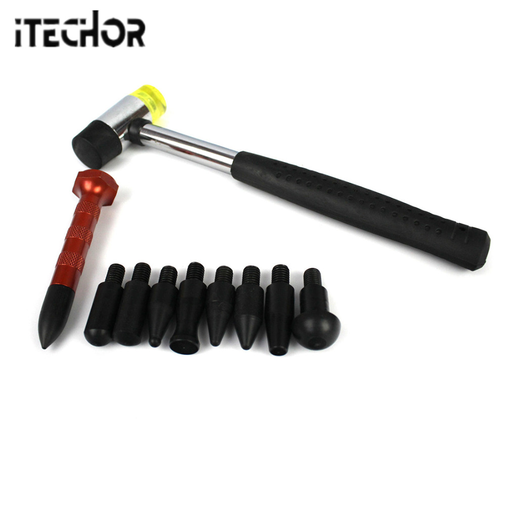 Itechor Set Of Tools Car Dent Repair Tool Set Indentation Repair Pen And Hammer Auto Body Repair Tools Dent Removal Tool Kit Hot Hand Tools