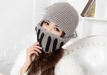 10 шт./лот женщины и мужчины теплая зима вязание крючком шапка с гладиатор маска кепка! Лыж роман рыцарь шляпа! 2 цветов + бесплатная доставка