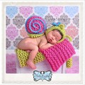 Crochet QUENTE Tapete De Algodão Sentiu Cobertor Fundo Cenários de Fotografia Adereços Adereços Recém-nascidos Envoltório Swaddle Bebê Cesta Stuffer Foto