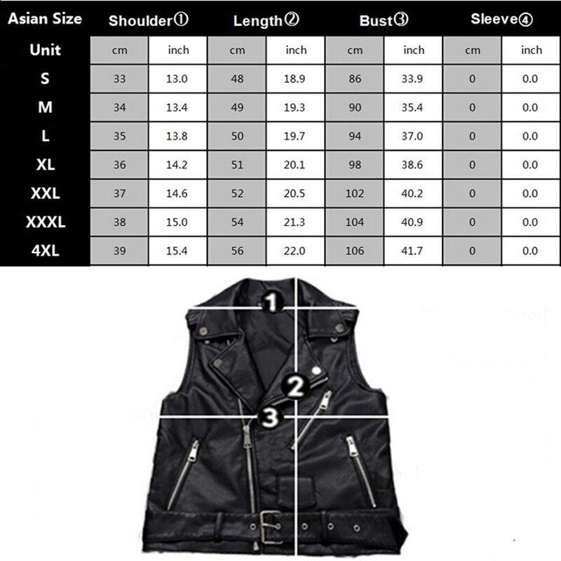4XL grande taille femme moto gilet noir en cuir gilet femmes sans manches Biker veste avec ceinture - 2
