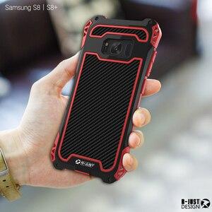 Image 3 - Dành Cho Samsung Galaxy Samsung Galaxy S10 Plus S9 S8 PLUS NOTE 9 AMIRA Chống Sốc Carbon Sợi Kim Loại Giáp Lưng Ốp Lưng galaxy Note 10 +