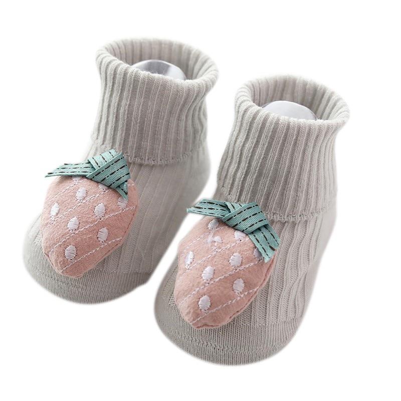 Cute Baby Girl Anti-slip Cotton Socks Infant Toddler Newborn Slipper Shoes Boots