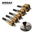 Binoax 5 Unids Punta De Carburo Broca HSS Rra Metal Madera Herramienta de Corte Del Agujero de Perforación para La Instalación de Cerraduras 16/18. 5/20/25/30mm