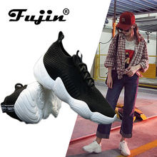 Fujin Brand women Rhinestone 2019 sneakers  Spring Autumn Pu Leather Casual Shoes Lady Fashion Lace-up Platform Shoes chinese rhinestone foldable spring autumn crystal large size china genuine leather flats peach roll up famous brand shoes 10