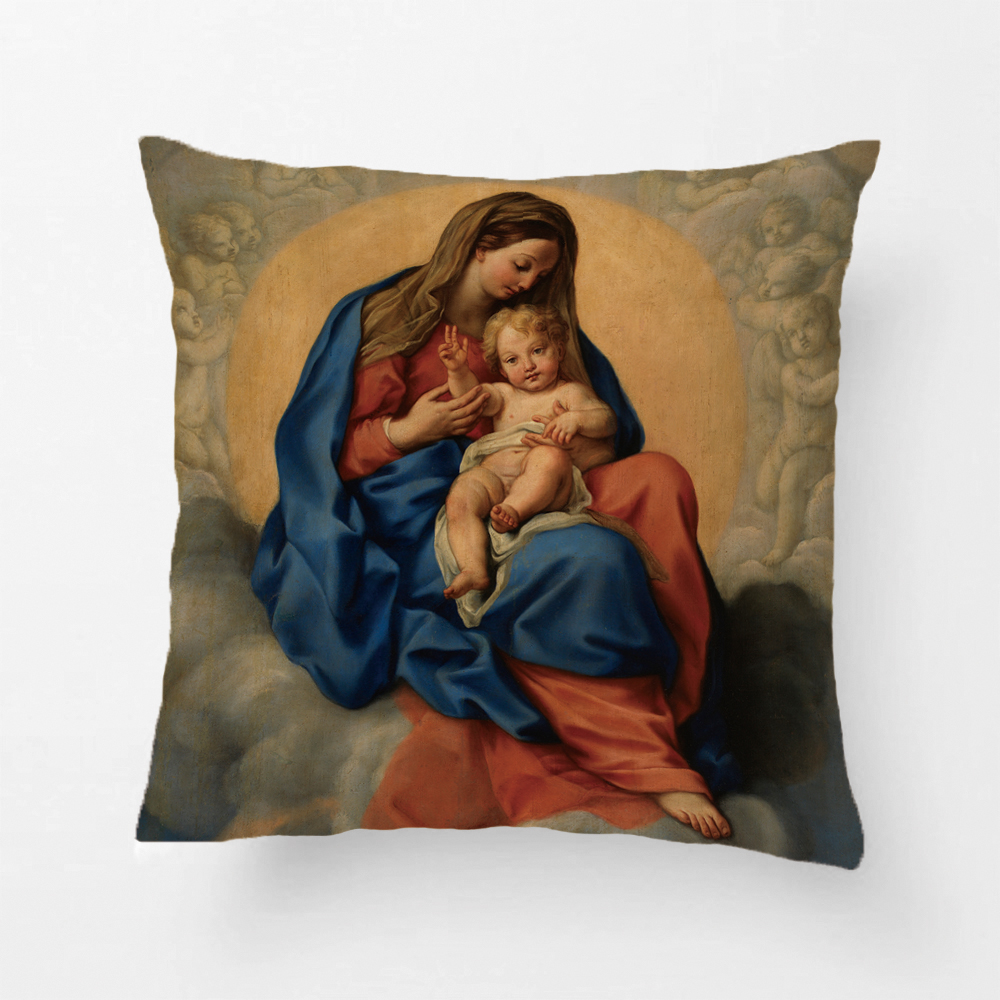Decorative Throw Pillow Case Vintage Christmas Nativity Mary Joseph Baby Jesus Printing Pillowcases By Lvsure For Sofa Seat