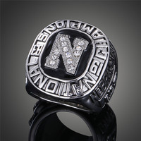 Vintage Handmade NCAA 1983 The University Of Nebraska National Triumph Mens Replica Ring For Sports Fans
