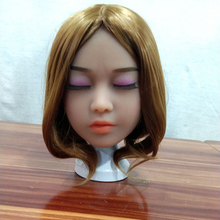 AILIJIA Japanese sex dolls #76 Oral Sex Doll Heads with closed eyes for Male Big Size Love Dolls 135cm-176cm Sex Toy (Head Only) sex mannequin torso full silicone sex doll head only for male sex toys products oral sex love dolls