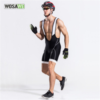 WOSAWE Men S 3D Padded Cycling Bib Short Bicycle Tights Pants Bike Riding MTB Road Outdoor