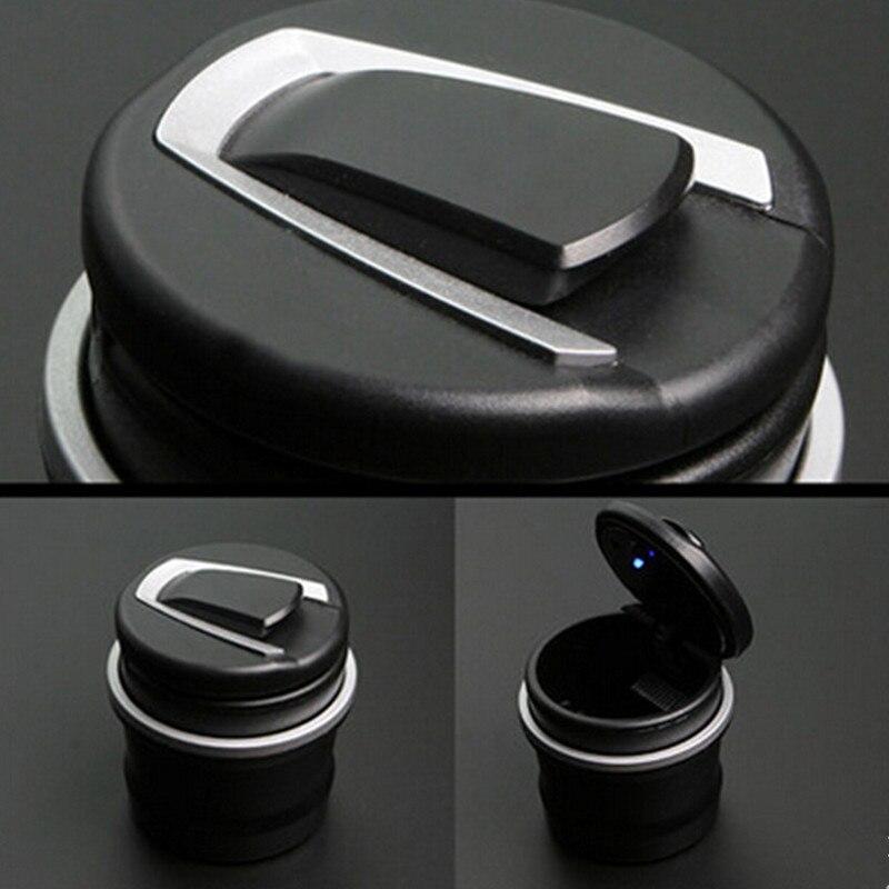 1PC Portable Auto Car Truck LED Light Ashtray For Citroen C3 4x4 Peugeot 3008 Hyundai I30 Skoda H7 Volkswagen Golf 4 Seat Exeo