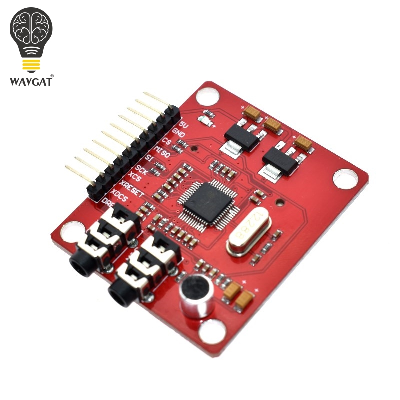 WAVGAT VS1053 VS1053B MP3 Module For Arduino UNO Breakout Board With SD Card Slot Ogg Real time Recording For Arduino UNO-in Integrated Circuits from Electronic Components & Supplies