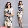 2016 Free Shipping China Hot Sale Summer New Thin Satin Dress Slim Package Women Work Wear Clothes