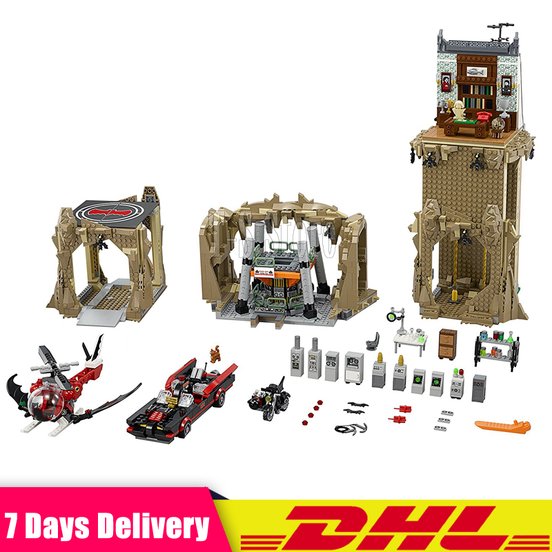 IN Stock Lepin 07053 2566pcs  DC Batman Super Heroes MOC Batcave Educational Building Blocks Bricks Toys Gift for children 76052 decool 7105 dc super heroes batman the tumbler building block brick tank toys for children boy game gift compatible lepin bela