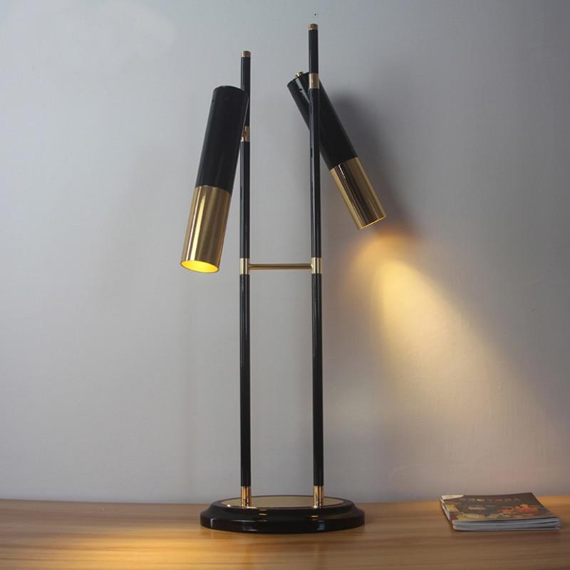 Гладить настольная лампа дизайнер модель гостиная спальня ночники кабинет креативного освещения таблицы свет 2 headsa ZA410510
